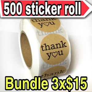 500 heart shaped sticker roll